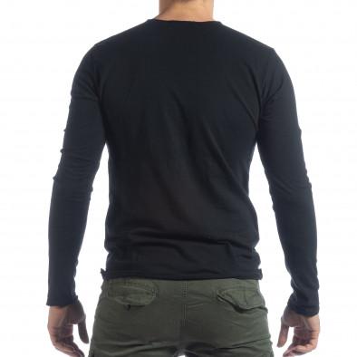 Мъжка блуза V-neck в черно it040219-88 3