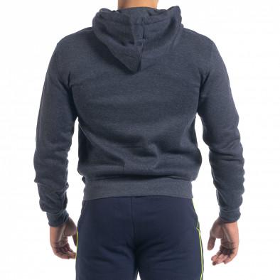 Мъжки суичър California с цип син меланж it071119-60 3