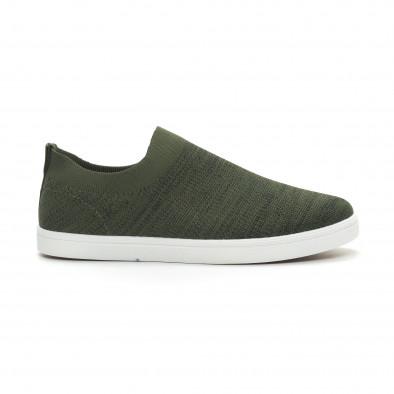 Мъжки гуменки тип чорап зелен меланж it150319-16 2