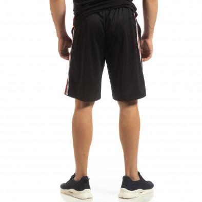 Ултралеки мъжки шорти в черно с кантове it090519-50 3