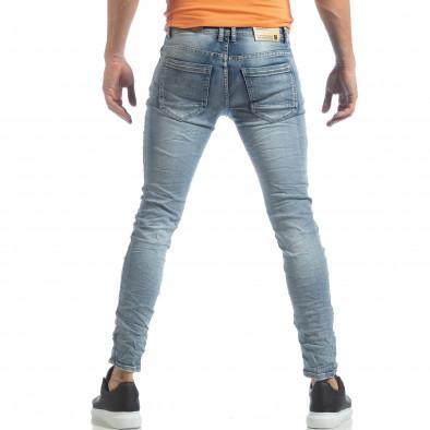 Мъжки Washed Slim Jeans в синьо it040219-13 4