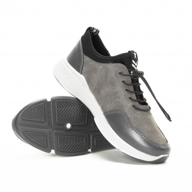 Комбинирани сиви мъжки маратонки it221018-35 4