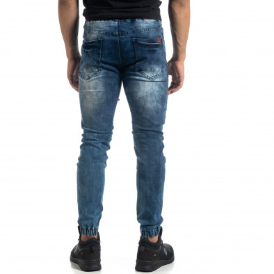 Мъжки сини рокерски дънки Jogger it041019-21 3