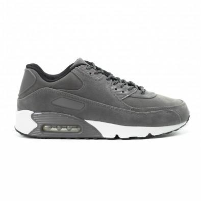 Велурени мъжки Air маратонки в сиво it140918-28 2