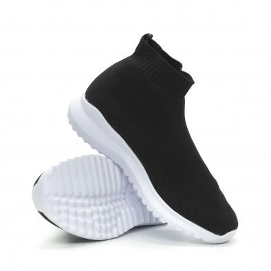 Мъжки черни кецове чорап с грайфер it150319-8 4