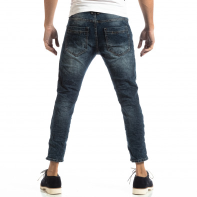 Сини мъжки дънки с фин кант it261018-10 4