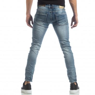 Slim fit мъжки сини дънки с прокъсвания it040219-11 3