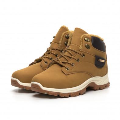 Мъжки трекинг обувки в цвят камел it260919-29 4