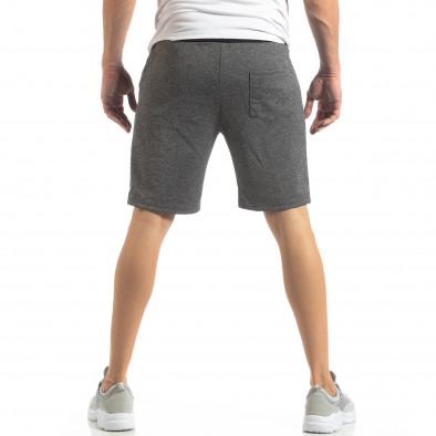 Мъжки шорти в сиво сребрист акцент it210319-68 4