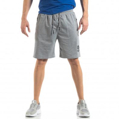 Мъжки спортни шорти в сиво it210319-74 3
