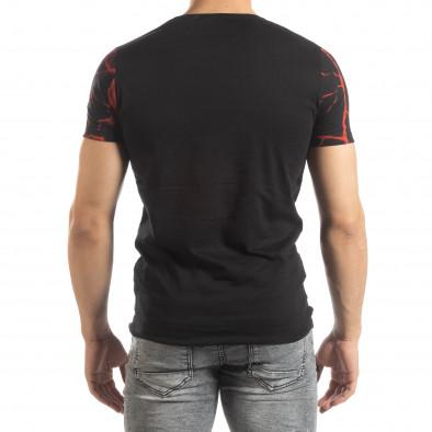 Мъжка тениска Supple в черно и червено it150419-110 3