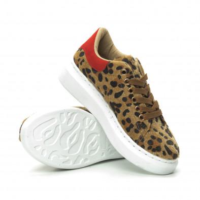 Дамски кецове леопард с червена пета it150319-46 4