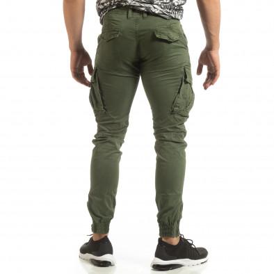 Мъжки зелен карго джогър с ципове на крачолите it090519-11 4