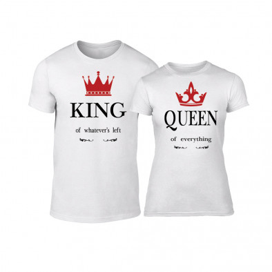 Тениски за двойки King Queen бели TMN-CP-113 3