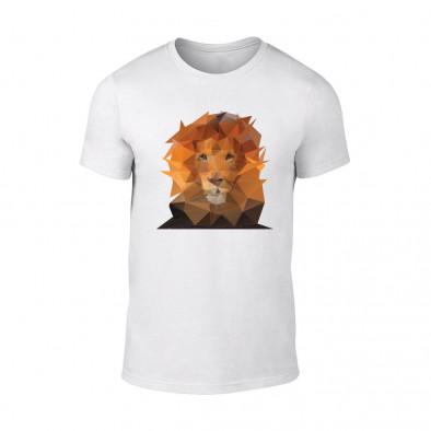 Мъжка бяла тениска Lion TMN-M-201 2