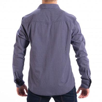 Мъжка карирана риза CROPP Slim fit в синьо lp070818-132 3