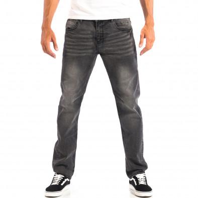 Черни мъжки дънки House Regular fit с избелял ефект  lp060818-55 2