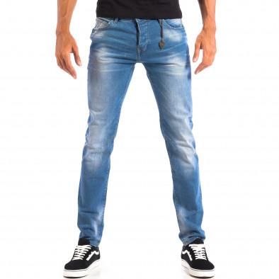 Мъжки сини Slim fit дънки House с аксесоар lp060818-66 2