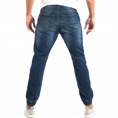 Мъжки сини дънки House с ластици на крачолите lp060818-47 3