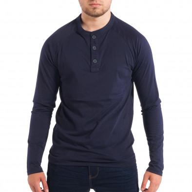 Мъжка синя блуза RESERVED с копчета lp070818-42 2