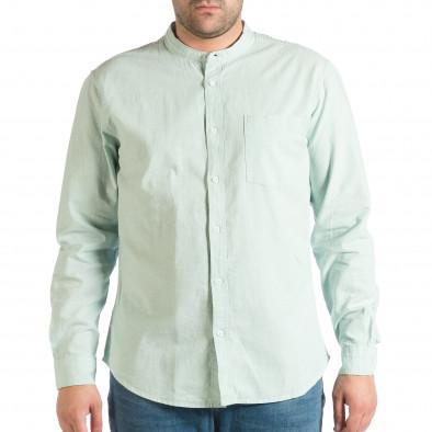 Зелена мъжка риза със столче яка RESERVED Regular fit lp290918-181 2