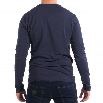 Мъжка синя блуза с джоб lp070818-46 3