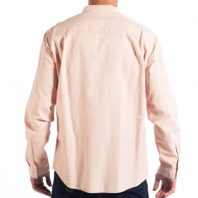 Regular риза със столче яка RESERVED в розово lp070818-124 3