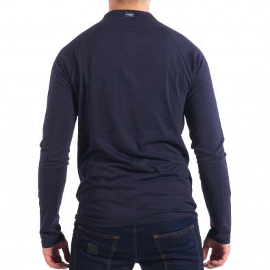 Мъжка синя блуза RESERVED с копчета lp070818-42 3