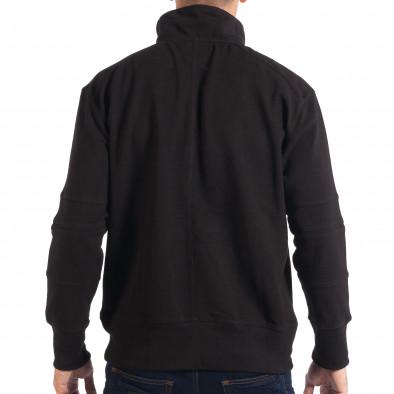 Мъжки черен суичер RESERVED с общ джоб lp080818-105 3