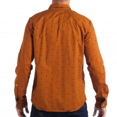 Мъжка Slim fit риза CROPP в цвят камел lp070818-109 3