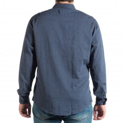 Синя мъжка риза Regular fit RESERVED lp290918-176 3
