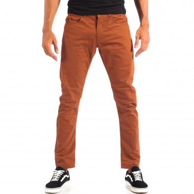 Мъжки тънък панталон CROPP в цвят камел lp060818-109 2