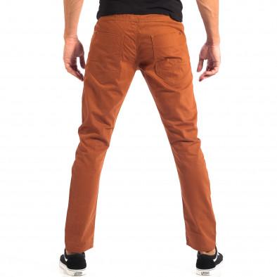 Мъжки тънък панталон CROPP в цвят камел lp060818-109 3
