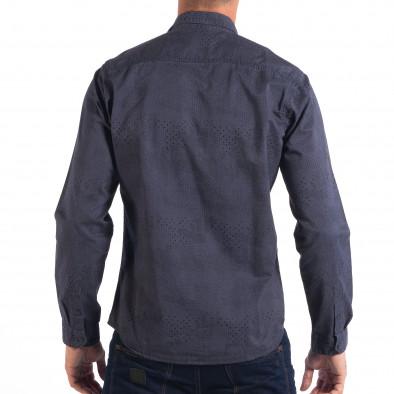 Regular риза RESERVED в синьо с дребен десен lp070818-113 3
