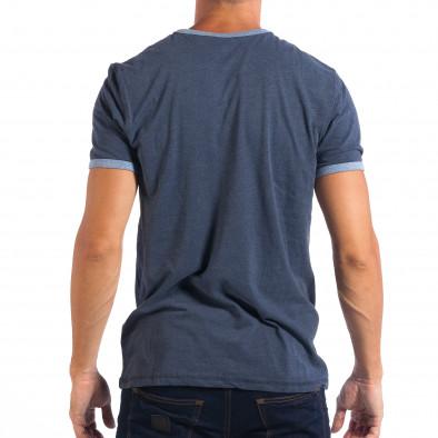 Мъжка синя тениска Reserved  lp070818-10 3