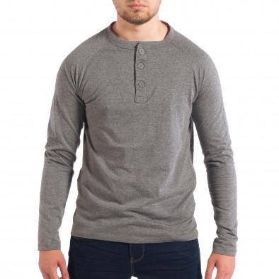 Мъжка сива блуза RESERVED с копчета lp070818-43 2