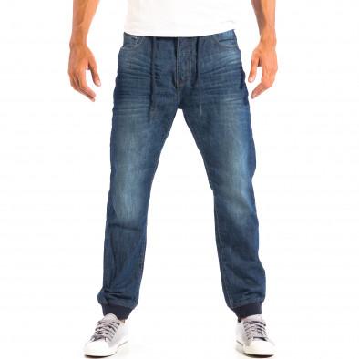 Мъжки сини дънки House Jogger  lp060818-35 2
