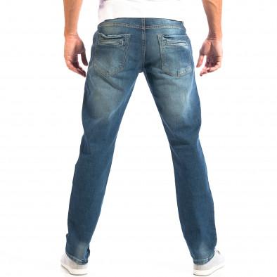 Мъжки сини дънки Reserved Regular fit с избелял ефект lp060818-69 3