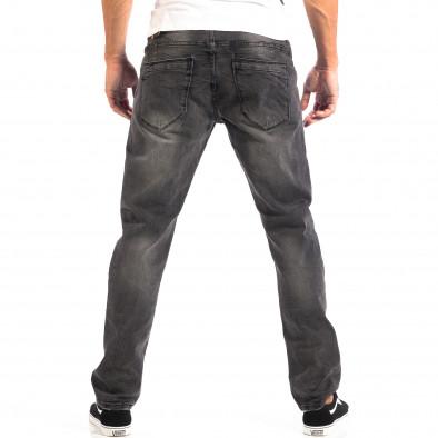 Черни мъжки дънки House Regular fit с избелял ефект  lp060818-55 3