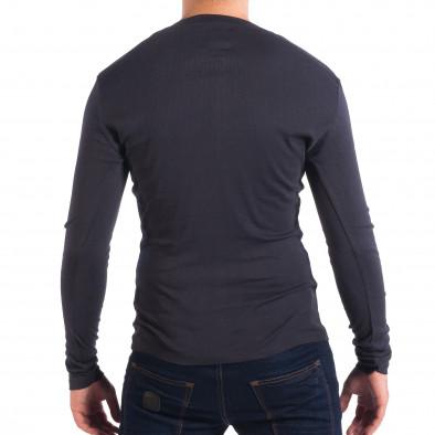 Еластична мъжка блуза House в синьо lp070818-30 3
