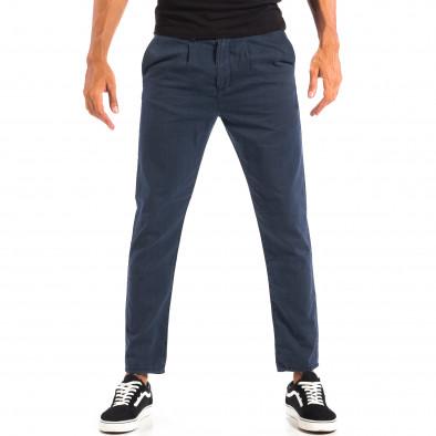 Летен мъжки панталон House синьо райе lp060818-107 2