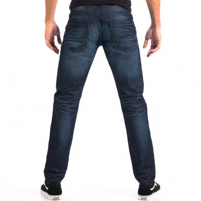Мъжки сини дънки Reserved с намачкан ефект lp060818-1 3