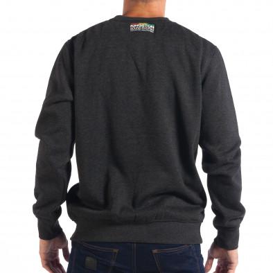 Мъжка тъмносива блуза CROPP с шарен надпис lp080818-22 3