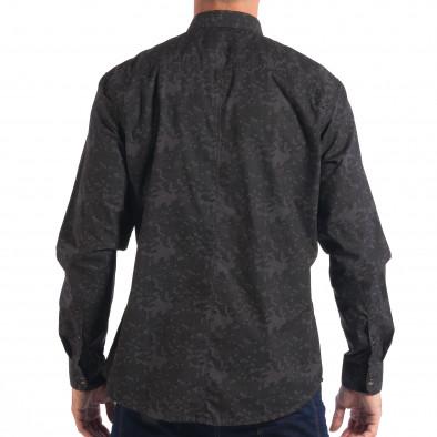 Мъжка риза сив камуфлаж lp070818-117 3