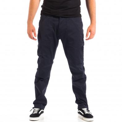 Мъжки син панталон CROPP с ластик на крачолите lp060818-125 2