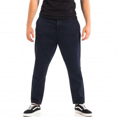 Мъжки син Cropped панталон lp060818-87 2