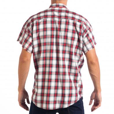 Regular риза с къс ръкав RESERVED червено каре lp070818-127 3