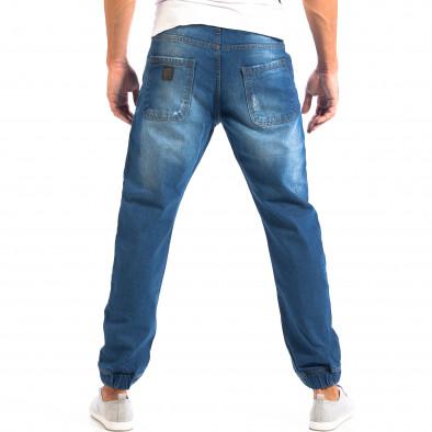 Jogger мъжки дънки CROPP в синьо със скъсвания lp060818-31 3