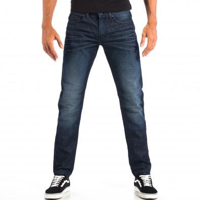 Мъжки сини дънки Reserved с намачкан ефект lp060818-1 2