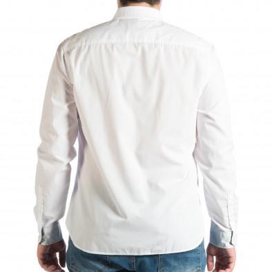 Мъжка бяла риза Slim fit RESERVED lp290918-177 3